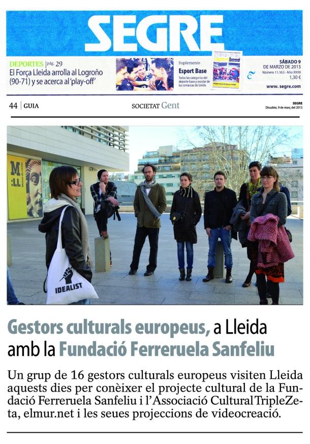 Segre Newspaper 09.03.2013