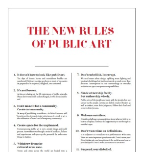The New Rules of PublicArt