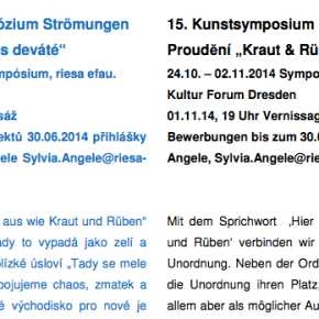 15. Kunstsymposium Strömungen-Proudění – Call(DE-CZ)