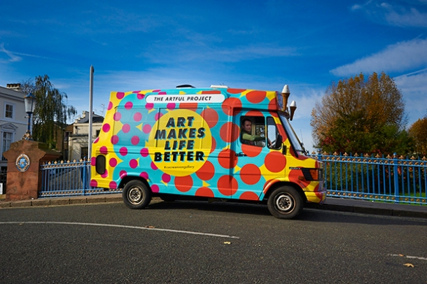 The Artful Project's art-cream van.